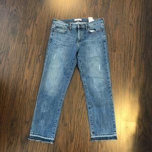 Banana republic jeans premium denim straight crop